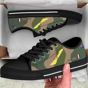 RAAF 1 Squadron F-111 Inspired Women's Low Top Canvas Shoes - I Love a Hangar