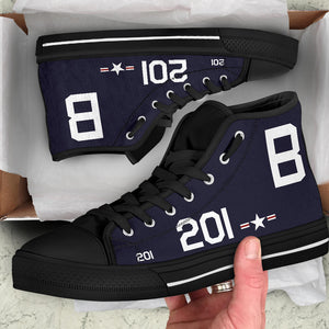 Grumman F8F Bearcat Inspired Women's High Top Canvas Shoes - I Love a Hangar