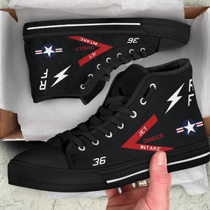 VMFP-3 RF-4B Inspired Men's High Top Canvas Shoes - I Love a Hangar