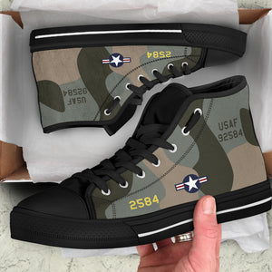 "B-52G ""Midnight Express"" Inspired Men's High Top Canvas Shoes - I Love a Hangar"