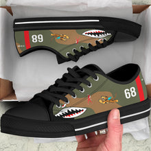 "Load image into Gallery viewer, P-40B ""Flying Tigers"" Inspired Men's Low Top Canvas Shoes - I Love a Hangar"