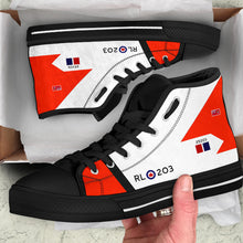 Load image into Gallery viewer, RCAF Avro Canada CF-105 Arrow #203 Inspired Men's High Top Canvas Shoes - I Love a Hangar
