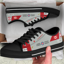 Load image into Gallery viewer, RCAF CT-114 Tutor Inspired Women's Low Top Canvas Shoes (#067) - I Love a Hangar