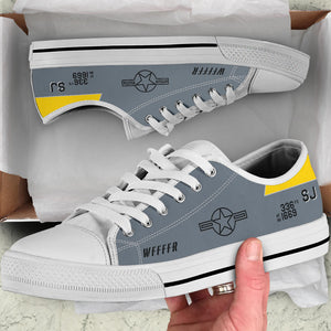 F-15 336th FS Inspired Men's Low Top Canvas Shoes - I Love a Hangar