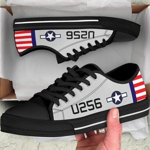 AT-6 W.A.S.P. Inspired Women's Low Top Canvas Shoes - I Love a Hangar