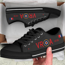 Load image into Gallery viewer, Lancaster VR-A Inspired Men's Low Top Canvas Shoes (Black) - I Love a Hangar