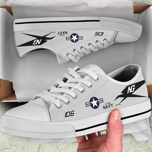 "VF-96 ""Fighting Falcons"" Inspired Women's Low Top Canvas Shoes - I Love a Hangar"