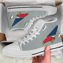 Load image into Gallery viewer, JASDF 302nd TFS Inspired Women's High Top Canvas Shoes - I Love a Hangar
