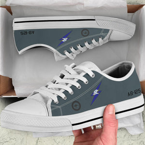 RAAF 6 Squadron F-111C Inspired Men's Low Top Canvas Shoes - I Love a Hangar