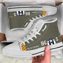 "Load image into Gallery viewer, P-51 ""Old Crow"" Inspired Men's High Top Canvas Shoes"