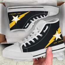 Load image into Gallery viewer, VF-33 Starfighters Inspired Men's High Top Canvas Shoes - I Love a Hangar
