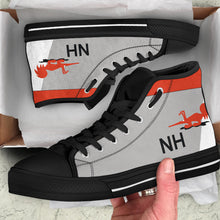 Load image into Gallery viewer, VF-114 Aardvarks F-14 Inspired Men's High Top Canvas Shoes - I Love a Hangar
