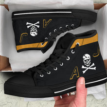 "Load image into Gallery viewer, VF-84 ""Jolly Rogers"" Inspired Men's High Top Canvas Shoes - I Love a Hangar"