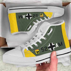 "Junkers Ju-87 ""Stuka"" Inspired Women's High Top Canvas Shoes - I Love a Hangar"
