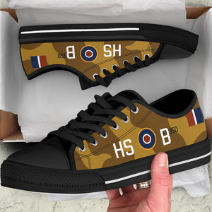 "P-40N of James ""Stocky"" Edwards Inspired Men's Low Top Canvas Shoes - I Love a Hangar"