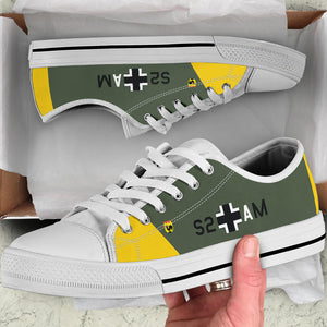 "Junkers Ju-87 ""Stuka"" Inspired Women's Low Top Canvas Shoes - I Love a Hangar"