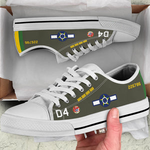 Lt Rui Moreira Lima P-47D Thunderbolt Inspired Men's Low Top Canvas Shoes - I Love a Hangar
