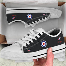 "Load image into Gallery viewer, ""Black Arrows"" Hawker Hunter XG194 Inspired Women's Low Top Canvas Shoes"