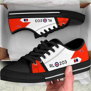 RCAF Avro Canada CF-105 Arrow #203 Inspired Men's Low Top Canvas Shoes - I Love a Hangar
