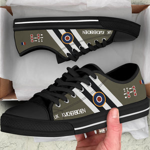 "C-47 ""Kwicherbichen"" Inspired Men's Low Top Canvas Shoes - I Love a Hangar"