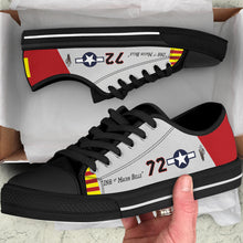 "Load image into Gallery viewer, P-51C ""Ina The Macon Belle"" of Lt.Col. Lee Archer Jr Women's Low Top Canvas Shoes - I Love a Hangar"