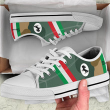 Load image into Gallery viewer, Spad XIII of Francesco Baracca Inspired Women's Low Top Canvas Shoes - I Love a Hangar