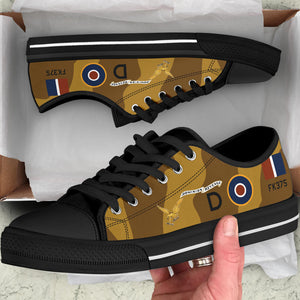 "B-26 ""Dominion Revenge"" Inspired Women's Low Top Canvas Shoes - I Love a Hangar"