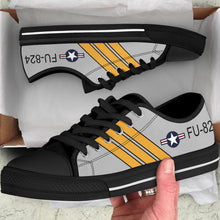 Load image into Gallery viewer, F-86 Sabre Inspired Men's Low Top Canvas Shoes - I Love a Hangar