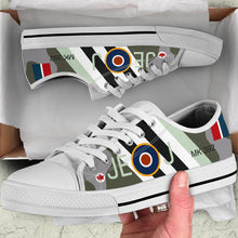 Load image into Gallery viewer, RAF Spitfire of Johnnie Johnson Inspired Women's Low Top Canvas Shoes - I Love a Hangar