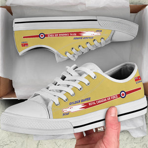 "Canadair Sabre ""Golden Hawks"" Inspired Men's Low Top Canvas Shoes - I Love a Hangar"