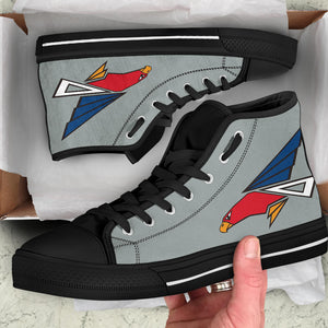 JASDF 302nd TFS Inspired Women's High Top Canvas Shoes - I Love a Hangar