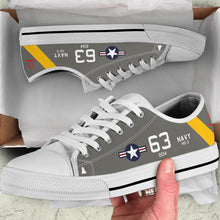 "Load image into Gallery viewer, SH-3A Sea King HS-3 ""Tridents"" Inspired Women's Low Top Canvas Shoes - I Love a Hangar"