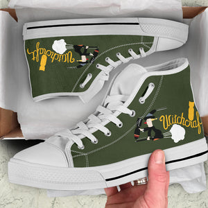 "B-24 ""Witchcraft"" Inspired Men's High Top Canvas Shoes - I Love a Hangar"