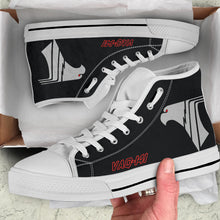 "Load image into Gallery viewer, VAQ-141 ""Shadowhawks"" Inspired Women's High Top Canvas Shoes - I Love a Hangar"