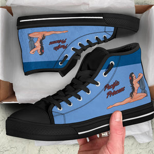 "B-25 ""Pacific Princess"" Inspired Men's High Top Canvas Shoes - I Love a Hangar"
