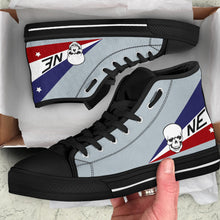 Load image into Gallery viewer, VF-2 Bounty Hunters F-14D Inspired Men's High Top Canvas Shoes - I Love a Hangar