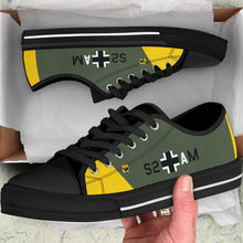 "Load image into Gallery viewer, Junkers Ju-87 ""Stuka"" Inspired Men's Low Top Canvas Shoes - I Love a Hangar"
