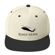 Load image into Gallery viewer, Black Hawk Snapback Hat - I Love a Hangar