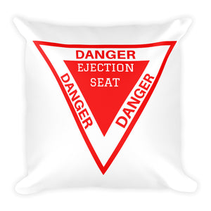 White Ejection Seat Pillow - Double Sided Print - I Love a Hangar