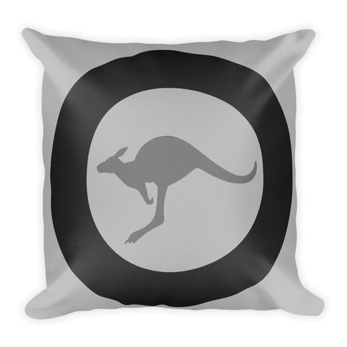 RAAF Grey Roundel Pillow - Single Side Print - I Love a Hangar