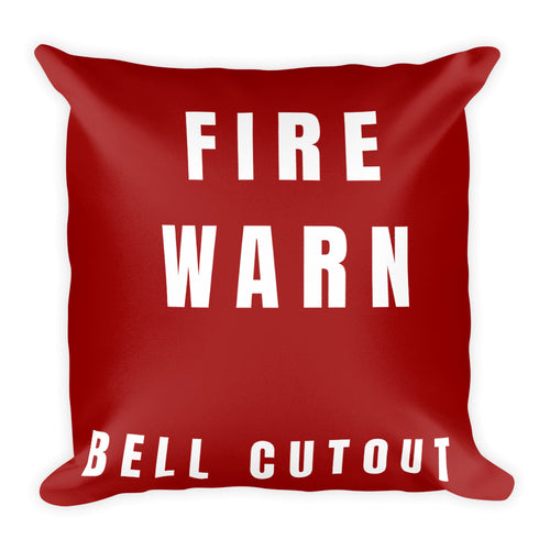 Master Warning & Master Caution Basic Pillow - Double Sided Print - I Love a Hangar
