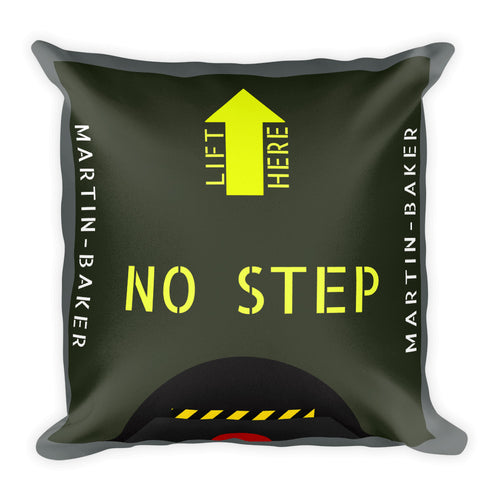 Martin-Baker Inspired Ejection Seat Pillow - Single Side Print - I Love a Hangar