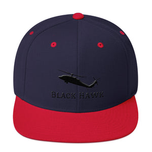 Black Hawk Snapback Hat - I Love a Hangar
