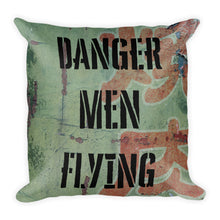 Load image into Gallery viewer, Danger Men Flying Camo Pillow - Single Side Print - I Love a Hangar