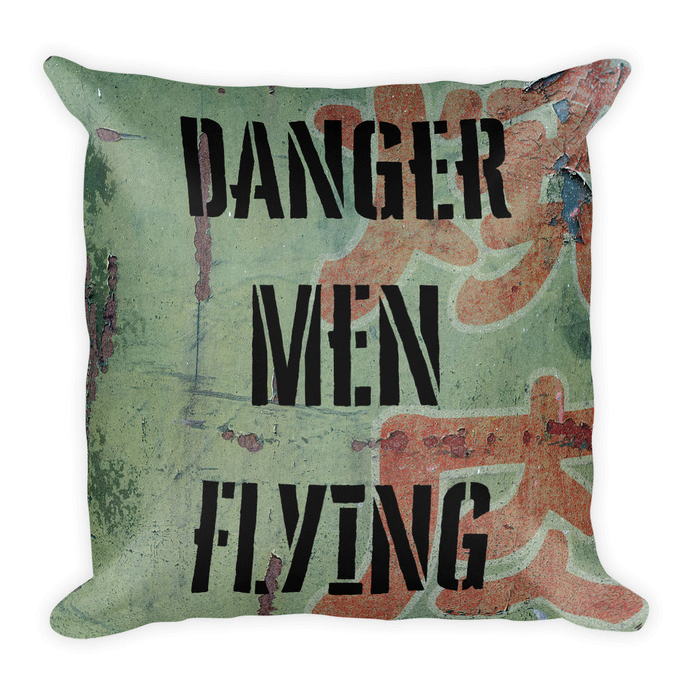 Danger Men Flying Camo Pillow - Single Side Print - I Love a Hangar