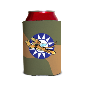 "AVG ""Flying Tigers"" Inspired Custom Can & Bottle Coolers - I Love a Hangar"