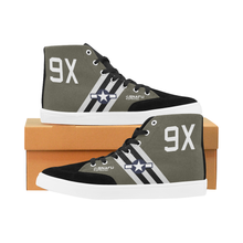"Load image into Gallery viewer, C-47 ""The SNAFU Special"" Men's Hi-Top Trainers - I Love a Hangar"