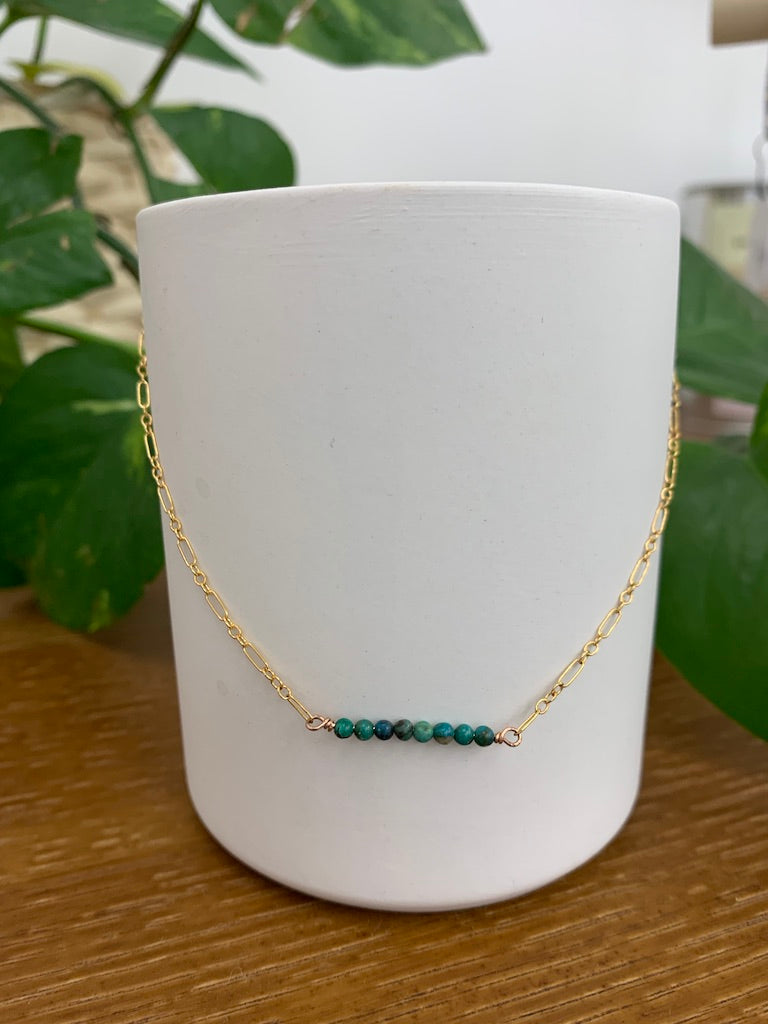 Amberlite Turquoise Collarbone Necklace