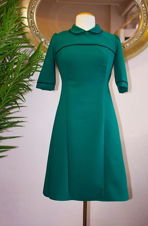 Collar Dress Green