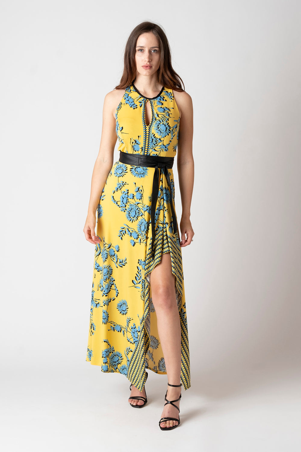 Avery Maxi Dress - Yellow Floral